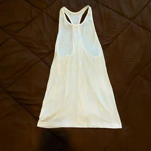 Lululemon Extra Long Basic White Muscle Tank